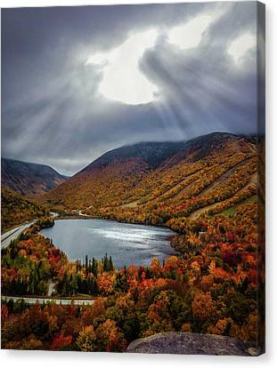 Artists Bluff Sun Rays Canvas Print by Renee Fontaine
