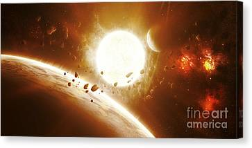 Artists Concept Of 51 Pegasi Canvas Print by Kevin Lafin