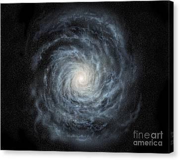 Artists Concept Of A Face-on View Canvas Print by Ron Miller