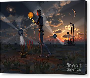 Artists Concept Of A Quest To Find New Canvas Print by Mark Stevenson