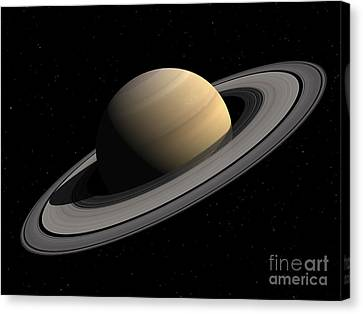 Artists Concept Of Saturn Canvas Print by Walter Myers