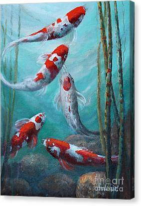 Artist's Pond Fish Canvas Print by Gail Salitui