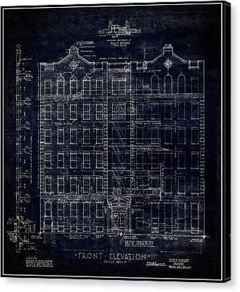 Artitectural Elevation N Y C  1939 Canvas Print by Daniel Hagerman
