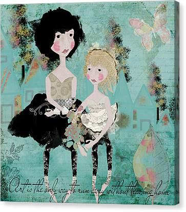 Artsy Girls Canvas Print by Diana Boyd