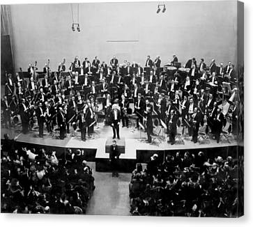 Arturo Toscanini 1867-1957 Receives Canvas Print by Everett