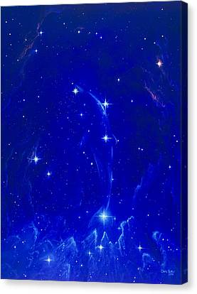 Artwork Of The Constellation Delphinus Canvas Print by Chris Butler