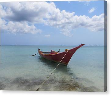 Canvas Print featuring the photograph Aruba by Jean Marie Maggi