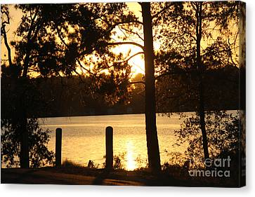 As Another Day Closes Canvas Print by Kathy  White