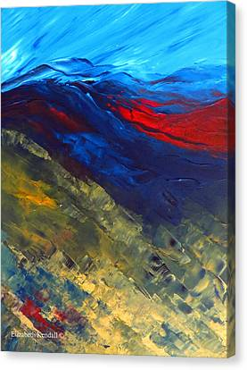 As Far As The Eye Can See Canvas Print by Elizabeth Kendall