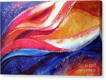 Canvas Print featuring the painting As I Bloom by Kathy Braud