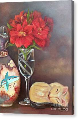 Canvas Print featuring the painting As If In A Dream by Marlene Book
