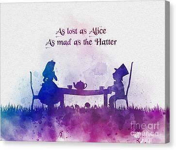 Alice In Wonderland Quotes Canvas Prints Fine Art America