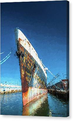Ports Canvas Print - As She Rusts Away by Marvin Spates