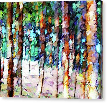 Masterful Canvas Print - As Summer Bids Farewell Abstract Realism by Georgiana Romanovna