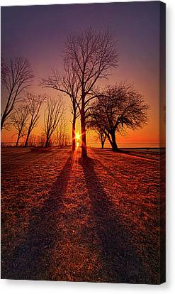 Canvas Print featuring the photograph As Sure As The Sun Will Rise by Phil Koch