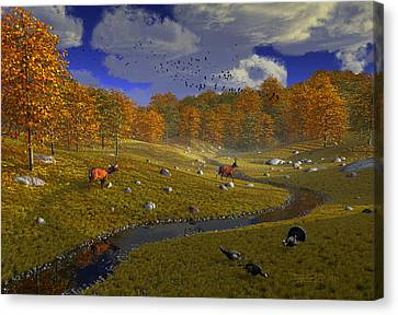 As The Leaves Will Turn Canvas Print by Dieter Carlton