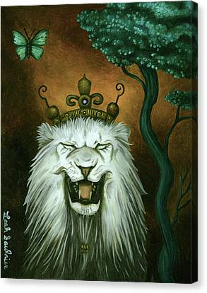As The Lion Laughs Canvas Print by Leah Saulnier The Painting Maniac