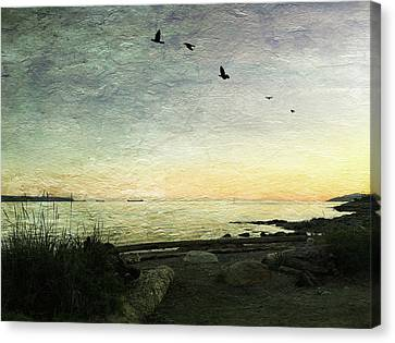 Canvas Print featuring the photograph As The Sky Darkens  by Connie Handscomb
