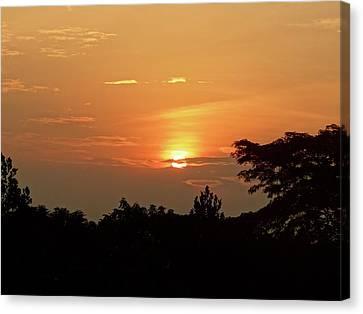 As The Sun Sets ... Orange Canvas Print by Exploramum Exploramum
