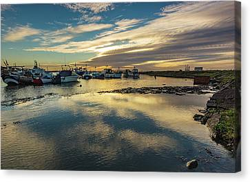 Paddys Hole Canvas Print - As The Sun Sets by Keith Sayer
