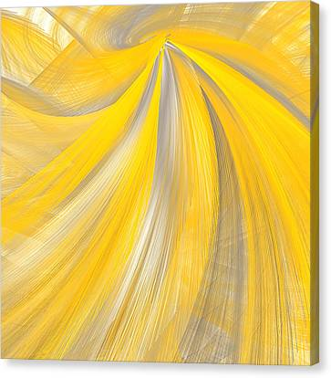 As The Sun Shines - Yellow And Gray Art Canvas Print