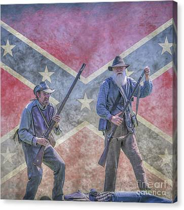 As They Began To Fall Flag Version Canvas Print