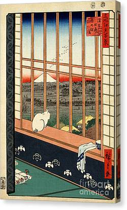 Asakusa Rice Field Canvas Print by Pg Reproductions