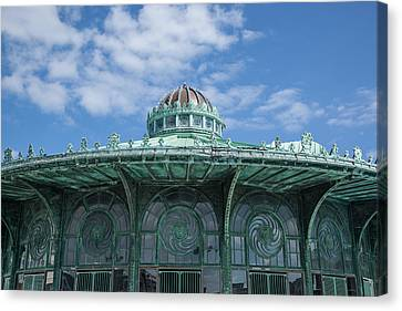 Asbury Park Carousel Canvas Print by Erin Cadigan