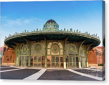 Asbury Park Carousel Canvas Print by Tom Rostron