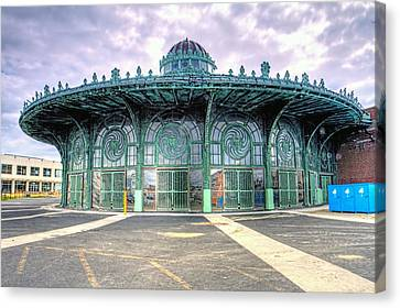 Asbury Park New Jersey Casino  Canvas Print by Geraldine Scull