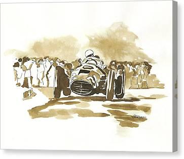 Ascari Canvas Print by Francoise Villibord Pointeau