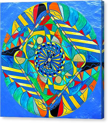Frequency Products Canvas Print - Ascended Reunion by Teal Eye  Print Store