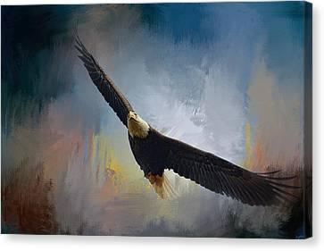 Eagle In Flight Canvas Print - Ascending by Jai Johnson