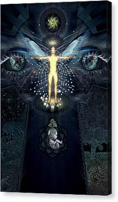 Ascension And Rebirth Canvas Print by Alex Polanco