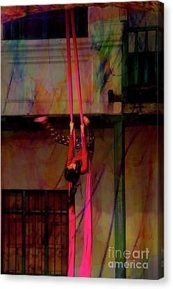 Ascension Of The Acrobat II Canvas Print by Al Bourassa