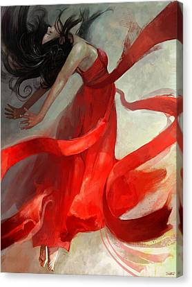Red Dress Canvas Print - Ascension by Steve Goad