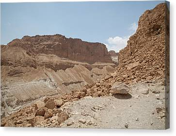 Canvas Print featuring the photograph Ascension To Masada - Judean Desert, Israel by Yoel Koskas