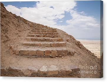 Canvas Print featuring the photograph Stairway To Heaven - Masada, Judean Desert, Israel by Yoel Koskas