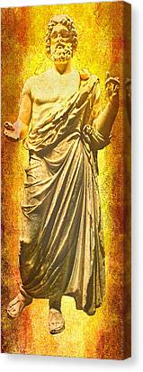 Canvas Print featuring the photograph Asclepius Descending by Nigel Fletcher-Jones