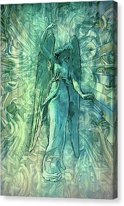 Ascending Angel 2016 Canvas Print by Jack Zulli