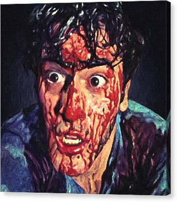 Canvas Print featuring the painting Ash Williams by Taylan Apukovska