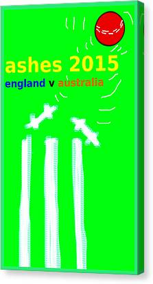 Ashes Poster  Canvas Print by Paul Sutcliffe