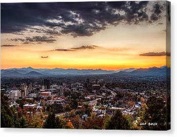 Asheville Canvas Print - Asheville From Above by Walt  Baker