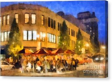 Asheville Nightlife Canvas Print