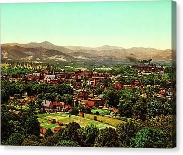 Asheville North Carolina 1902 Canvas Print