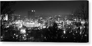 Asheville North Carolina Skyline Canvas Print by Gray  Artus