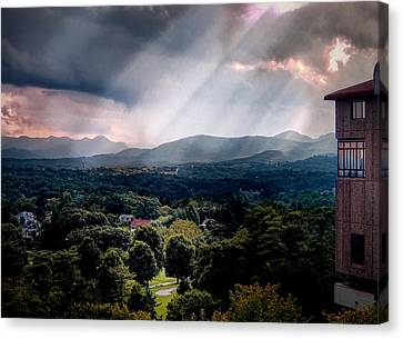 Asheville Sunset Canvas Print by Jim Hill