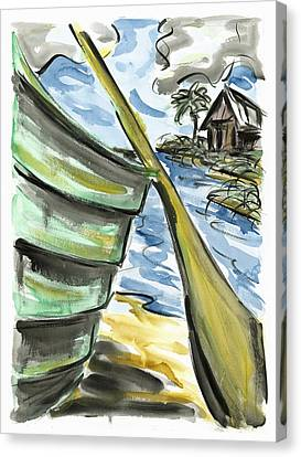 Canvas Print featuring the painting Ashore by Robert Joyner
