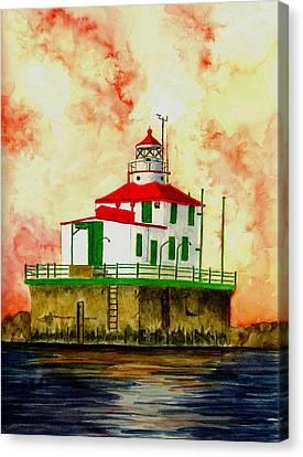 Ashtabula Lighthouse Canvas Print by Michael Vigliotti