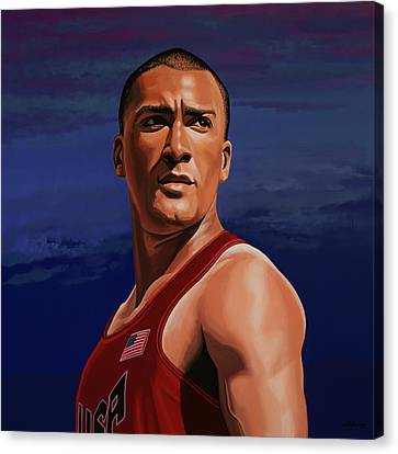 Ashton Eaton Painting Canvas Print